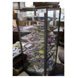 "Glass & Metal Display Cabinet, Seven Shelves 29"" H"