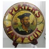 "Players Navy Cut Advertising Round Tin 16"""
