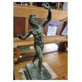Italian? 19Th Century Dancing Faun Bronze Statue 2