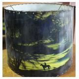 Mid Century Twilight Cowboy Themed Lamp Shade