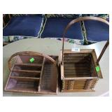 Two Bamboo Baskets: Upright Balloon & Organizer Tr