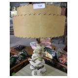 Mid Century Dancer Lamp With Spun Fiberglass Shade