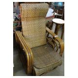 Rattan Recliner Chair With Magazine Side Holder