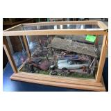 Rustic Diorama Work Shop With Thunderbird  & Dudle
