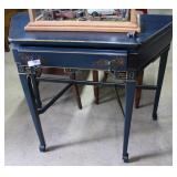 Contemporary Entry Table With Blue Floral Design &