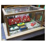 """Drag Racing Diorama With Fans In The Stand 17"""" X 1"""