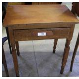 """Single Drawer Oak Side Table 28"""" H"""