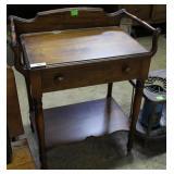 Oak Single Drawer Wash Stand