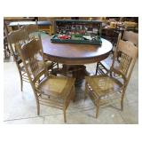 Oak Dining Table And Five Chairs