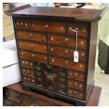 15 Drawer East Asian Spice Chest With Two Door Low