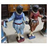 Pair Of Wood Carved Blackamoore Figures, Dressed I