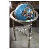 """Precious metal globe with lower shelf compass 38"""""""