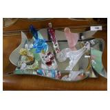 Mid Century dresser tray with six perfumes incl co