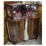 Art Deco cocktail cabinet with rotating mirrored g