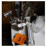 MCM bar ware: Playboy ashtrays, stemless martini g