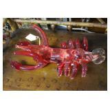 Contemporary Murano art glass red shrimp