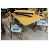 Heywood Wakefield wishbone drop leaf table in whea