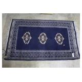 """Hand knotted scatter rug 48""""x 31"""""""