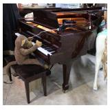 Kohler & Campbell Baby Grand Player piano in rosew