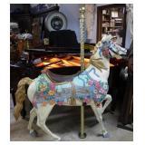 "Fiberglass painted Carousel horse 72"" x 58"" x 15"""