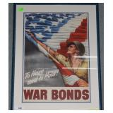 Framed WWII US Treasury poster To Have & To Hold W