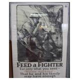"""US Food Administration WWII poster """"Feed a Fighter"""