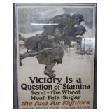 """Framed WWI US Food Administration poster """"Victory"""