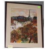 Paris Eiffel Tower Scene Bernard LaMotte artist si