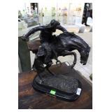 "Fredrick Remington Bronze ""Wooly Chaps"" 17"" x 22"""