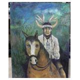 Original unframed Acrylic on Canvas by Len Cole of