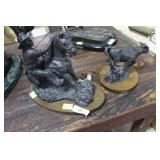 """Cold cast bronze statue """"In the Money"""" by Terrence"""