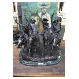 "Fredrick Remington Bronze ""Coming Through the Rye"""