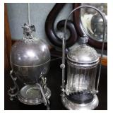 Victorian silver-plated pickle caster, & robins ne