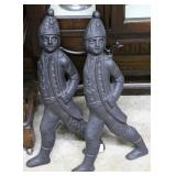 Pair of Howes Boston Regimental fire and iron fron