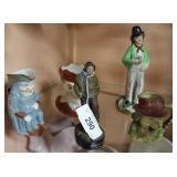 Five European figures incl. Ole Staffordshire ware