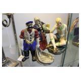"Three 20th Century figures approx. 8"" H : Sailor m"