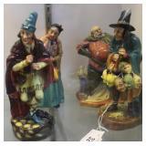 Four Royal Doulton figures: Falstaff, Bridget, Mas