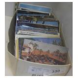 Assorted vintage travel post cards
