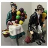 Royal Doulton Balloon Man & Balloon Woman