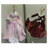 Two Royal Doulton  ladies: Hostess of Williamsburg