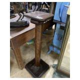 Cherry Stained single pedestal with column support