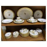 Royal Copenhagen Golden Basket dinnerware complete