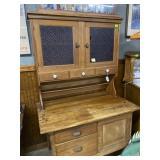 Step back Oak Country Kitchen cabinet five drawer