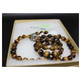Sterling and Tigers eye necklace