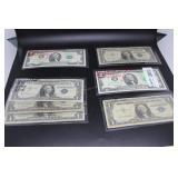 US paper money - $9 face value 2-$2.00 uncirculate