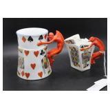 """Two Royal Bayreuth devil items: Devil Mug 4.75"""" H"""