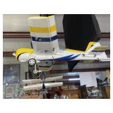 """36"""" model single engine airplane in yellow and blu"""