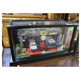 """Auto Shop Diorama In Black Painted Display Box 23"""""""