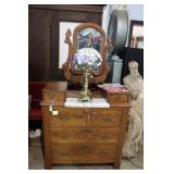 Oak marble top wash stand 2 over three with harp s