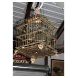 Brass Bird Cage Hanging From The Hook *Hook Not In